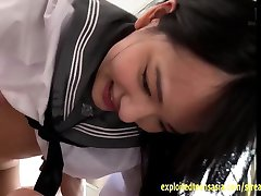 Abe Mikako Fucks And Kisses In Her School Shirt