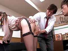 Fabulous Japanese whore Hina Akiyoshi in Hottest JAV censored Office, Big Tits video