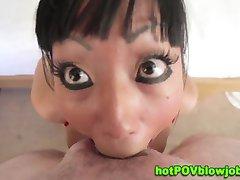 Kinky oriental ho gagging