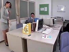 Japanese teachers astounding legs in sheer hose