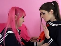 Transsexual Schoolgirl Learns to FUCK!