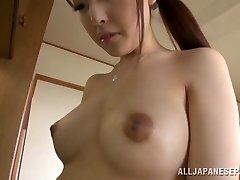 Pretty housewife Iroha Sagara gets rock hard penetrating