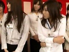 Nippon office sluts demonstrate their knockers
