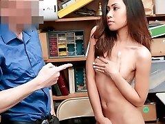 Shoplyfter - Bony Asian Teen Stripped And Boned