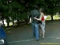 Crazy old mother gets my thick cock