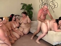 5 Insatiable BBWs torn up by 3 cocks