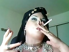 Princess Bella Donna,a bbw smoking gypsy Queen.
