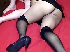 Cuckold hubby filming his breezy wifey fucking