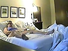 Oculto câmara de sexo filmado um tesão minx jilling fora
