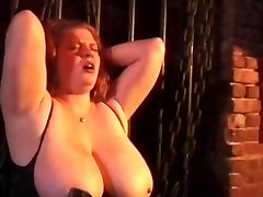 Insatiable couple spanking crazy tied bitch