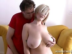 Siri Big Boobs Platinum-blonde Bathing Suit Young Chubby Fuck and Facial