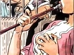 Maid choking on wrist thick cock, very pervy comic art hardcore