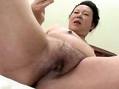 Japonês BBW Avó shino moriyama 66 anos de idade-H-0930