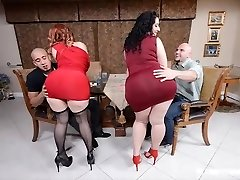 2 PLUMPER PAWGS Take on some Immense Cocks