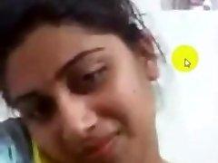 desi collage woman onanism on Skype for her boyfriend