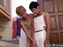 Asiatico magro twinks cazzo