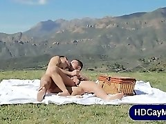 Outdoor love session for homosexual lovers