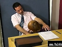Homosexual sex Teacher Mike Manchester is working late, but he's got his