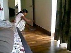 Maid showing Bosom