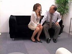 Titless Japanese screwed doggie in voyeur hump video