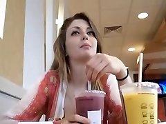 Crazy damsel at McDonalds