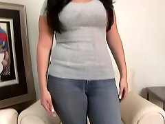 College Cutie with huge orbs gets asked about hook-up - DreamGirls