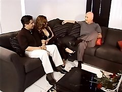 Busty wife exchange in living room with cum swapping latinas ravaged on floor