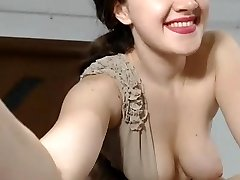 Girl ultra-cute tits get ejaculation with tips
