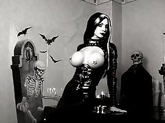 Black Latex Gothic Nymph