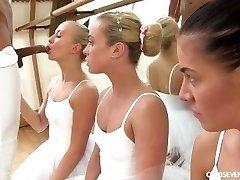 Cayla Lyons, Evelyn Dellai, Vinna Reed Pleasuring the ballet teacher