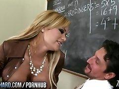 Torrid milf ravages teacher