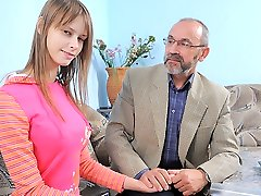 TrickyOldTeacher - Horny old educator fucks sexy sexy student and gives her pussy cum filling