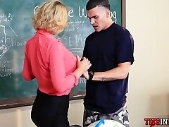 Huge Tit Teacher Drills with the Bad Boy