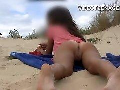 nice teen naked at beach