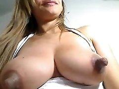 Biggest nipples on milk filled breast