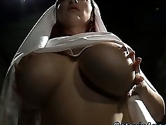 Meaty udders slutty nun scolds sinner