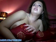 PublicAgent HD Immense Titted Brunette Falling for the Fake Movie Role