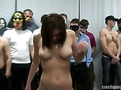 BUSTY DOLL AT CZECH GANG BANG PARTY