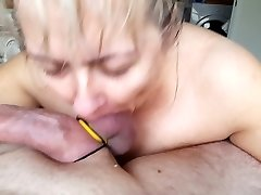 Maryna doing it all Blowing Licking Masturbating
