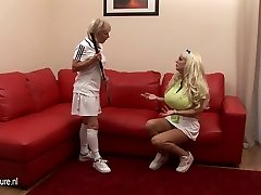 Big jugged babe lezzed up by her coach