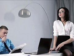 Petite Assistant nailed at the office