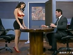 Brazzers - Valentina Nappi gets a hardcore office fuckin'