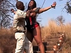 African Teen Abused Trussed By Chains Leather
