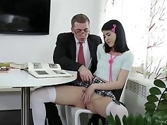 Tricky Old Teacher -  Jody toyed with her pussy