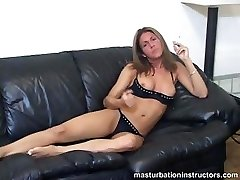 Smoking MILF shows tits as she longs for your cock