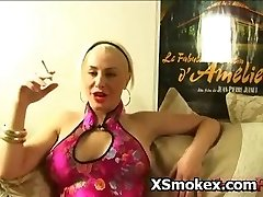Pointy Titty Chick Smoking Hookup