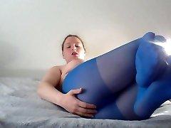 Blue Stockings Tease  II