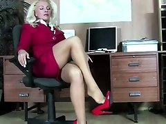 Devilishly sexy pantyhose towheaded
