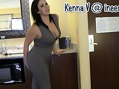 New Kenna V. drenching her panties and spandex