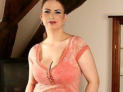 stellar girl with huge natural udders...